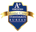 Seniors Helping Seniors South Bay & Westside Los Angeles is a Certified A+ Provider with the Home Care Standards Bureau